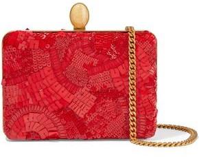 Oscar de la Renta Embellished Silk Clutch