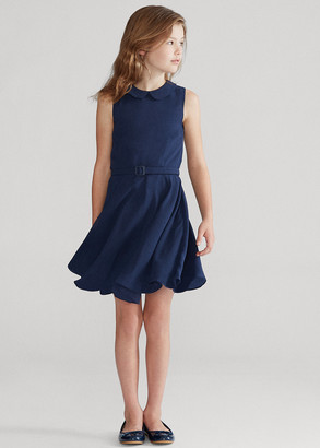 Ralph Lauren Belted Chiffon Dress