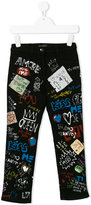 Dolce & Gabbana graffiti print trousers