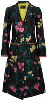 Etro Embellished Floral-jacquard Coat - Black