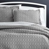 Crate & Barrel Elize Grey Quilts and Pillow Shams