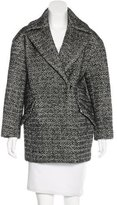 Sandro Tweed Notch-Lapel Coat