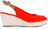 Tommy Hilfiger wedged sandals - women - Cotton/rubber - 37
