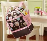 Pottery Barn Kids Mackenzie Chocolate Owl Preschool Cooler Backpack