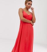Asos DESIGN Petite button through cami maxi dress