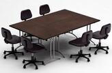 Meeting Seminar 3 Piece Rectangular Conference Table Set Team Tables Top Finish: Java