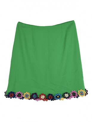 Mary Katrantzou Green Wool Skirt for Women