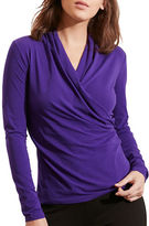 Lauren Ralph Lauren Faux-Wrap Jersey Top