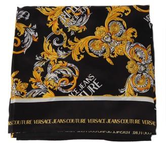 Versace Jeans Couture Baroque Print Silk Foulard