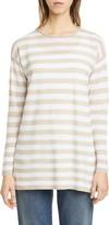 Eileen Fisher Stripe Organic Linen & Cotton Tunic