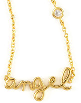 SHY by Sydney Evan Jewelry Angel Word Diamond-Detail Gold-Plate Necklace