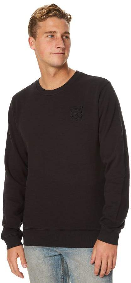 Swell Stacker Mens Crew Black