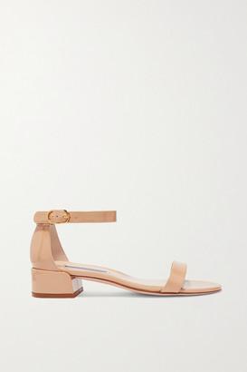 Stuart Weitzman Nudistjune Patent-leather Sandals - Beige