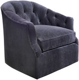 Horchow Rae St. Clair Navy Velvet Swivel Chair