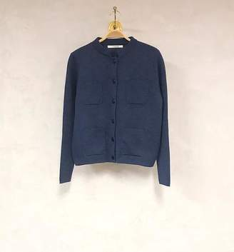 Sibin Linnebjerg - Dark Denim Blue Merino Wool Dell Cardigan - XS - Blue