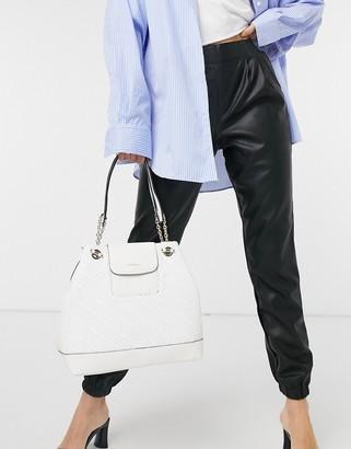 Fiorelli chrissy shoulder bag in cream weave
