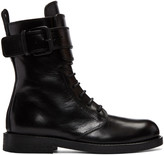 Ann Demeulemeester Black Biker Boots
