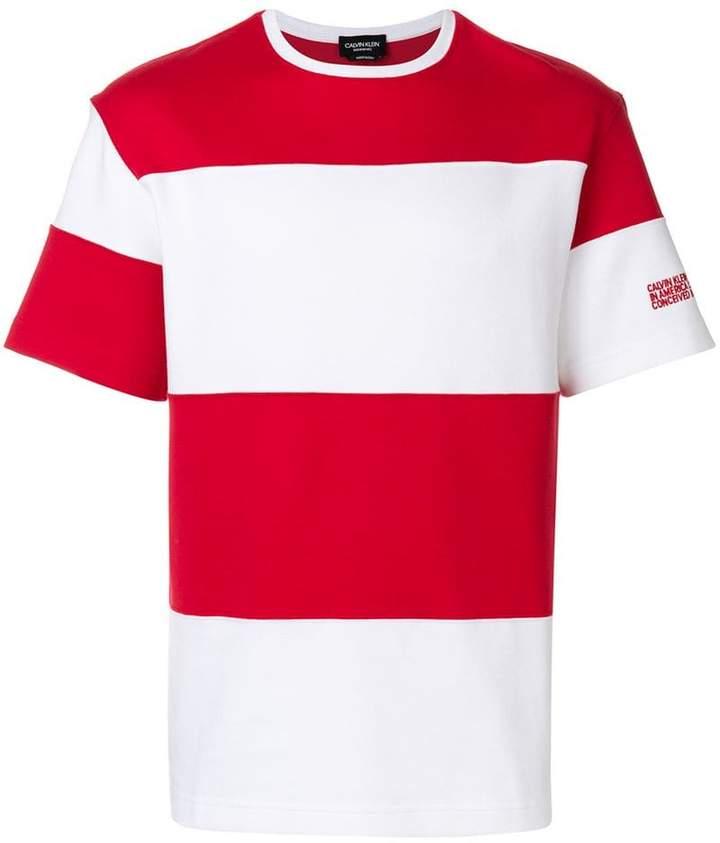 Calvin Klein block striped T-shirt