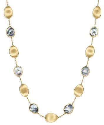 """Marco Bicego 18K Yellow Gold Lunaria Black Mother-Of-Pearl Short Necklace, 16"""""""