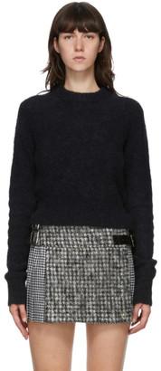 Helmut Lang Black Alpaca Shrunken Sweater