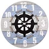 La Crosse Technology LaCrosse Technology Coastal Wall Clock in Blue/White