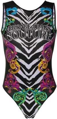 Versace Jeans Couture Sleeveless Tiger Print Body