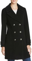 Andrew Marc Pandora Military Double-Breasted Button Front Coat