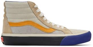 Vans Blue and Orange Reissue VI Sk8-Hi Sneakers
