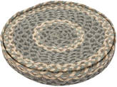 The Braided Rug Company - Round Placemats Set of 6 - Pebble Pale