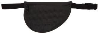 Alexander McQueen Black Mini Perforated Harness Bumbag