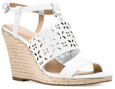 MICHAEL Michael Kors Darci Leather Espadrille Wedge Sandals