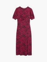 Oasis Crushed Heart Print Midi Dress, Multi