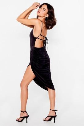 Nasty Gal Womens Lace Take Our Time Petite Midi Dress - Black