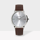 Paul Smith Unisex White And Brown 'Ma' Watch