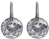 Bottega Veneta Cubic-zirconia and oxidised-silver drop earrings