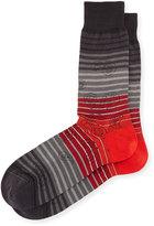 Bugatchi Paisley-Print Cotton-Blend Socks, Charcoal