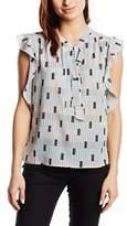 Morgan Women's Printed V-Neck Short Sleeve Vest - Multicoloured -