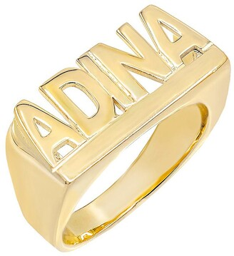 Adina's Jewels Personalized Block Letter Nameplate Ring