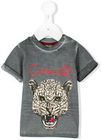 Roberto Cavalli over-dyed leopard motif t-shirt - kids - Cotton/Elastodiene - 3 mth