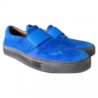Acne Studios Blue Suede Flats