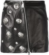 Versus lion head leather skirt