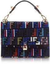 Fendi Kan I Woven Signature Silk Shoulder Bag