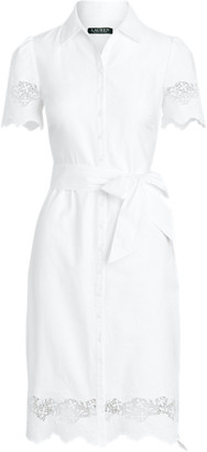 Ralph Lauren Eyelet Cotton Shirtdress