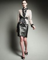 Valentino Leather Skirt