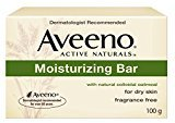Aveeno Moisturizing Bar with Natural Colloidal Oatmeal for Dry Skin, Fragrance Free, 3.5 oz Pack of 4