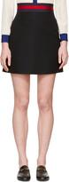 Gucci Black Web Ribbon Miniskirt