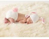 Mud Pie Infant Girl's 'Bunny' Knit Cap & Bloomers Set - Pink