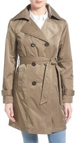 Ellen Tracy Techno Double Breasted Trench Coat