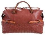 Bottega Veneta Russet Calf and Karung Top Handle Bag w/ Tags