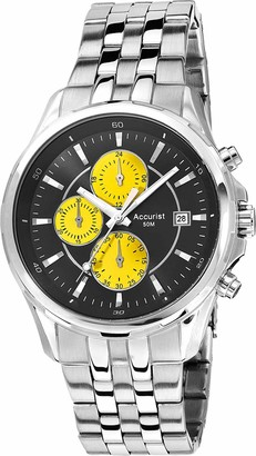 Accurist Mens Chronograph Japanese Quartz Watch with Stainless Steel Strap MB932BY.01